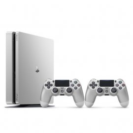 Sony Playstation 4 Slim 500 GB Limited Edition Silver 2db Dualshock 4 kontrolerrel (PS4 Slim) PlayStation 4