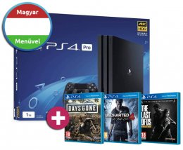 PlayStation 4 Pro 1TB (PS4 Pro) + Days Gone + Uncharted 4 + The Last of Us playstation-4