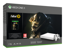Xbox One X 1TB Robot White Special Edition + Fallout 76 xbox-one