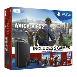 PlayStation 4 Slim 1TB Watch Dogs 2 Bundle PlayStation 4