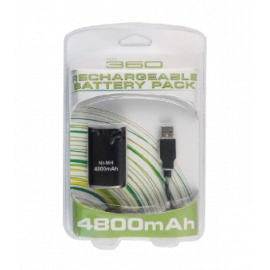 Xbox 360 Play And Charge Kit (4800 mAH) Xbox 360